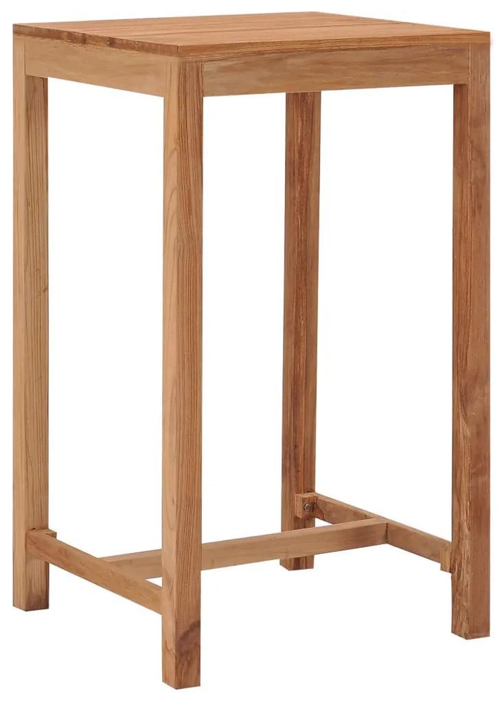 287235 vidaXL Masă de bar de grădină, 60 x 60 x 105 cm, lemn masiv de tec