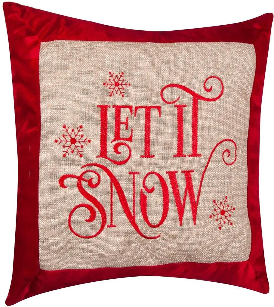 Perna decorativa Let It Snow