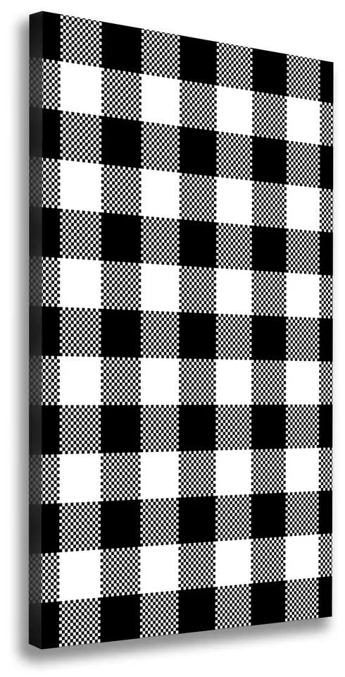 Tablouri tipărite pe pânză Zăbrele alb-negru