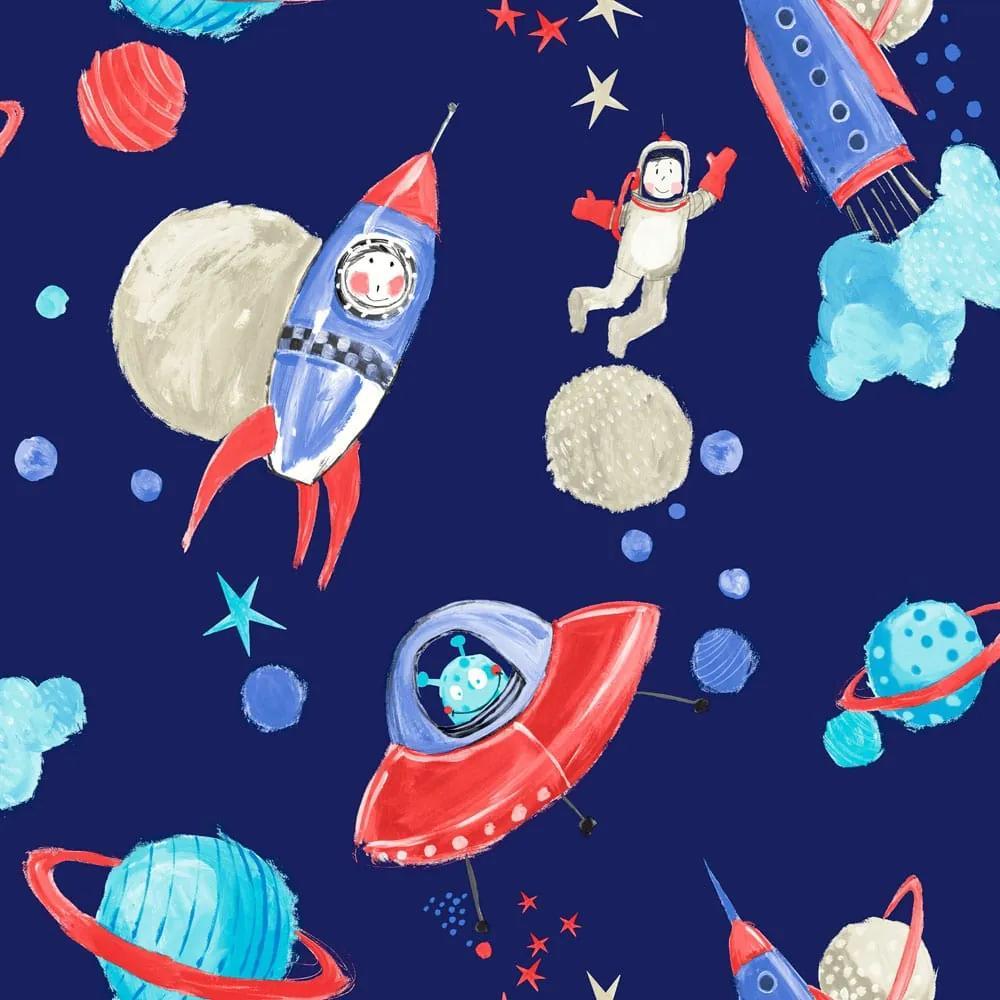 Arthouse Tapet - Starship Starship Blue