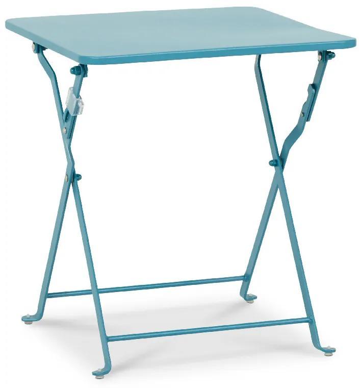 Masa metalica pliabila 40x40x45 cm Albastru