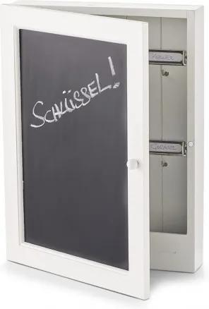 Suport pentru chei Blackboard, MDF White, l22xA5xH30 cm