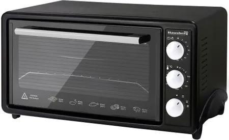 Cuptor electric Hausberg HB-9520N, 1800W, 42 L, timer, termostat, rezistente inox, Negru HB-9520N