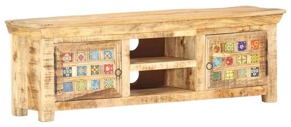285838 vidaXL Comodă TV, 120 x 30 x 40 cm, lemn masiv de mango