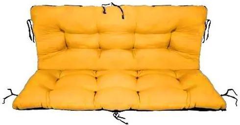 Set perne decorative pentru mobilier paleti, perna sezut 120x70 cm + perna spate 120x40 cm culoare galben
