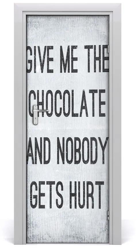 Autocolante pentru usi ciocolata da