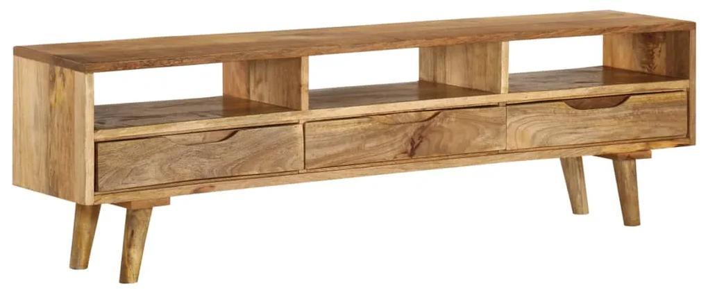 246787 vidaXL Comodă TV, lemn masiv de mango, 140 x 30 x 41 cm