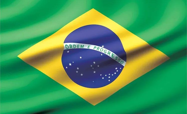 Flag Brasil Fototapet, (104 x 70.5 cm)