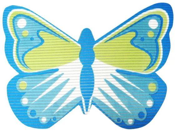 Covoras baie din spuma poliuretanica, Butterfly Albastru