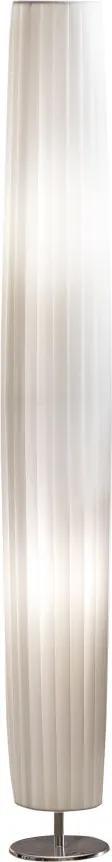 Lampadar rotund din latex/metal cromat THIS & THAT 120 cm alb, 2 becuri