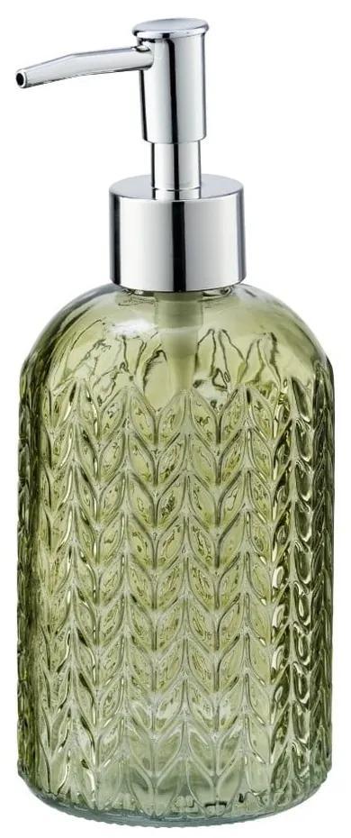 Dozator din sticlă pentru săpun Wenko Vetro, verde