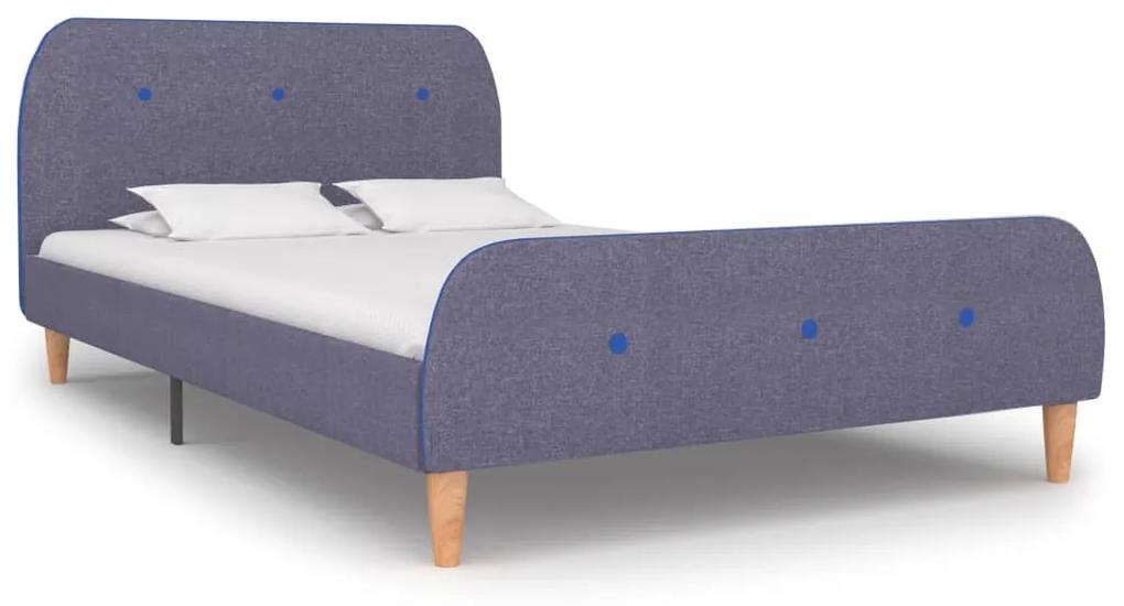 280922 vidaXL Cadru de pat, gri deschis, 120 x 200 cm, material textil