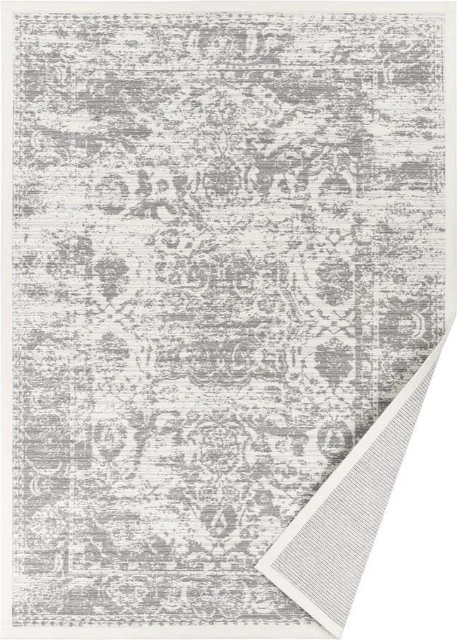 Covor reversibil Narma Palmse, 140 x 200 cm, alb