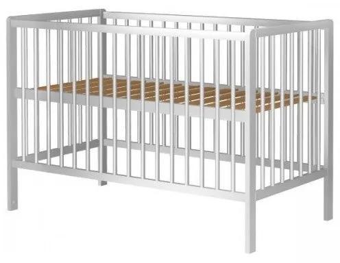 Hubners Patut copii din lemn Dominic 120x60 cm alb
