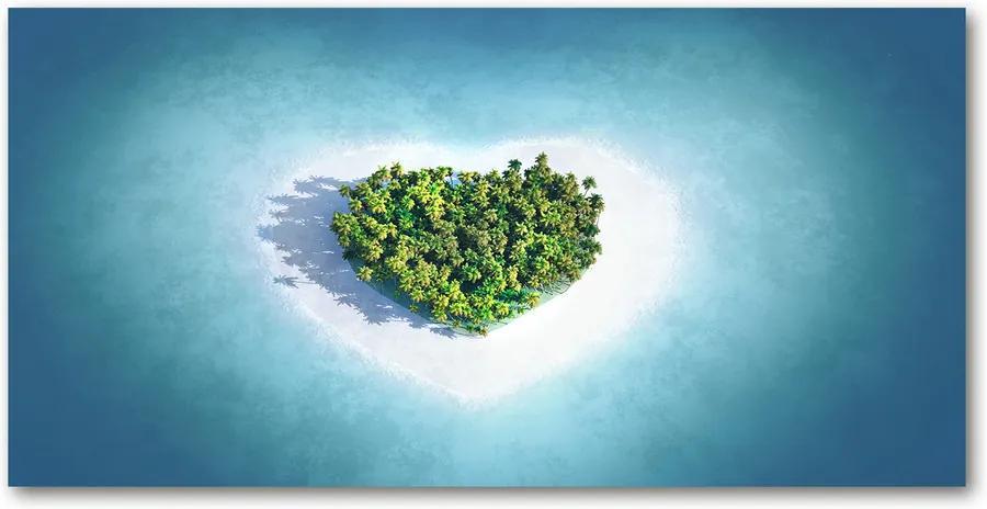 Tablou pe acril Inima insulă în formă