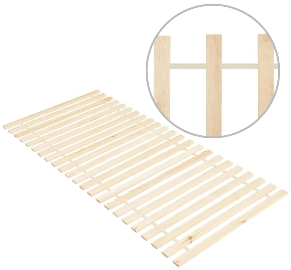 285784 vidaXL Bază de pat rulabilă cu 23 șipci, 90x200 cm, lemn masiv de pin