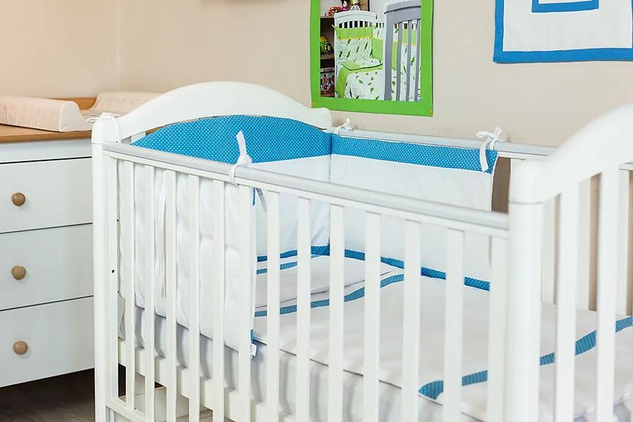 Lenjerie patut bebe cu 3 piese Bulinute 120 x 60 cm
