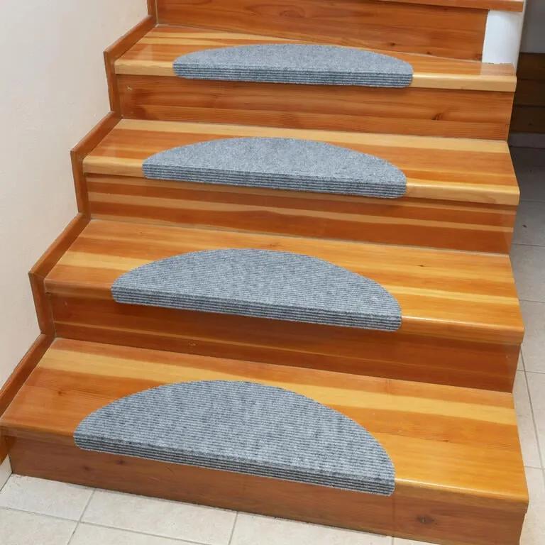 Preș pentru scări QUICKSTEP semicerc gri set 10 buc
