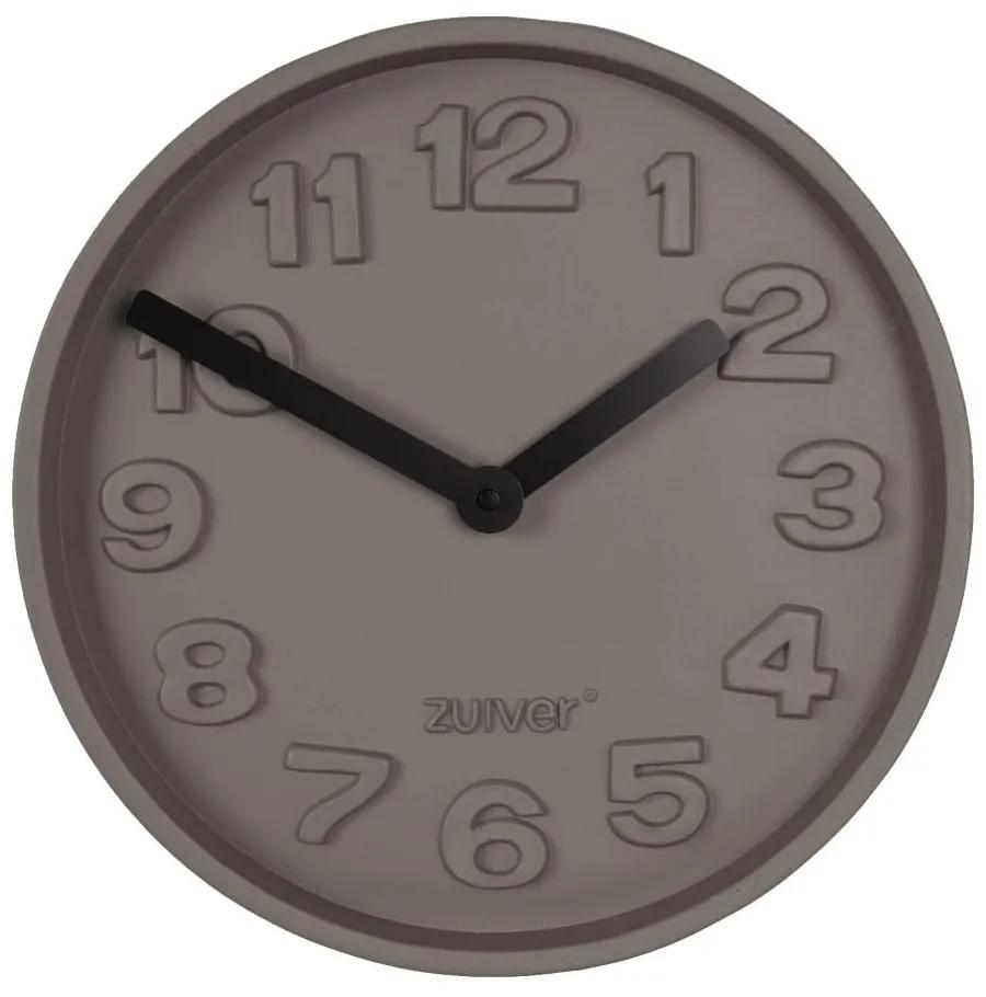Ceas rotund de perete din ciment Concrete Time Black