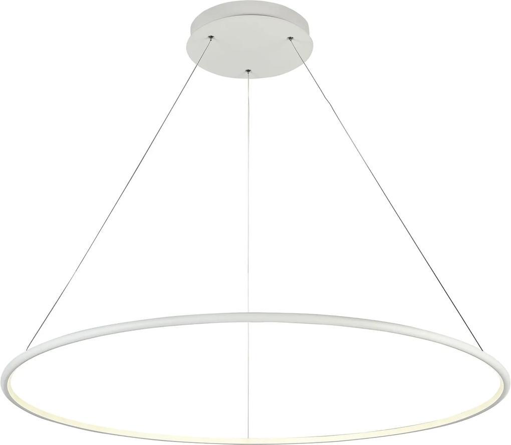 Nola 60 W - Lustră albă din metal în formă de cerc