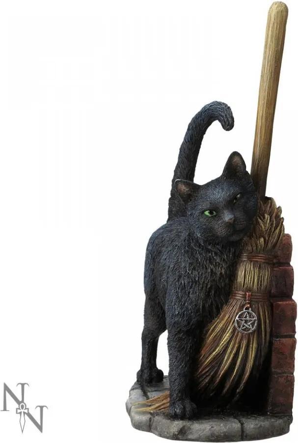 Statueta pisica neagra O intalnire magica 27 cm Lisa Parker