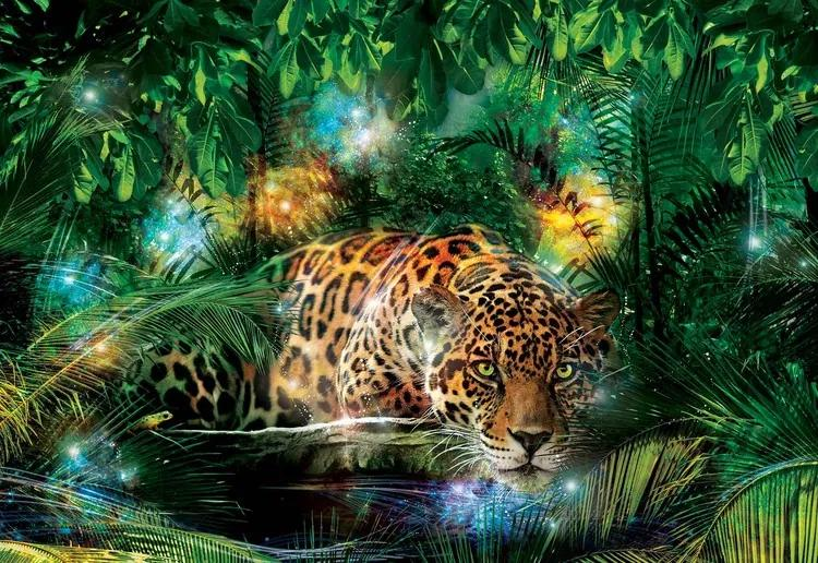 Leopard In Jungle Fototapet, (152.5 x 104 cm)