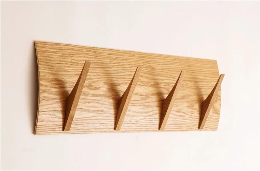 Cuier de perete din lemn masiv Woodman Rack Naki Oak Large