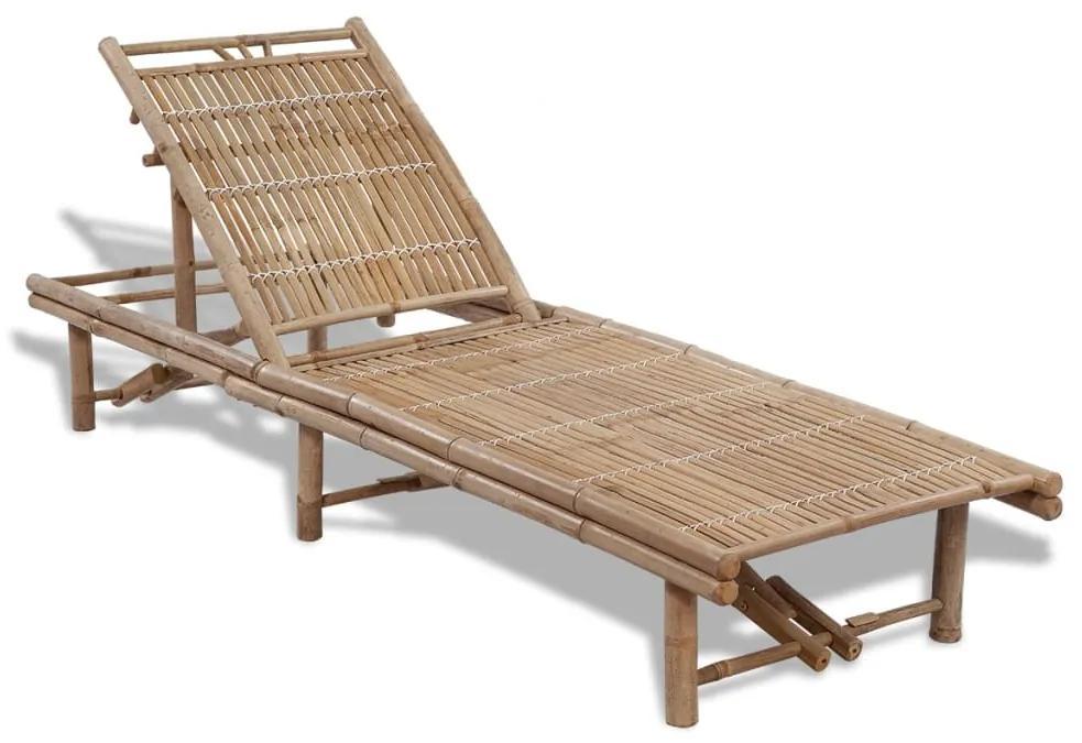 41499 vidaXL Șezlong, bambus