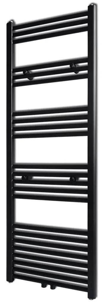 141909 vidaXL Radiator port-prosop încălzire baie, drept, 500 x 1424 mm, negru