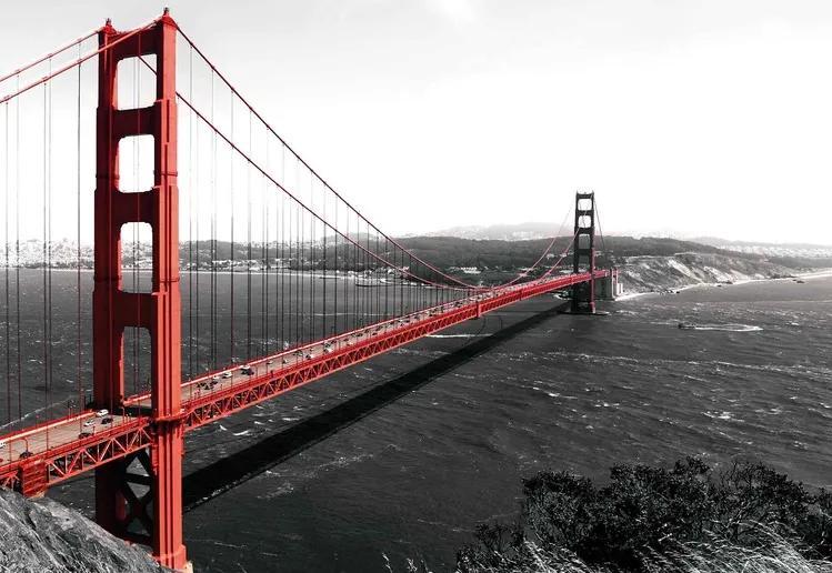City Golden Gate Bridge Fototapet, (184 x 254 cm)
