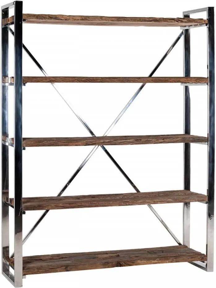Biblioteca lin lemn reciclat Kensington 140x183 cm