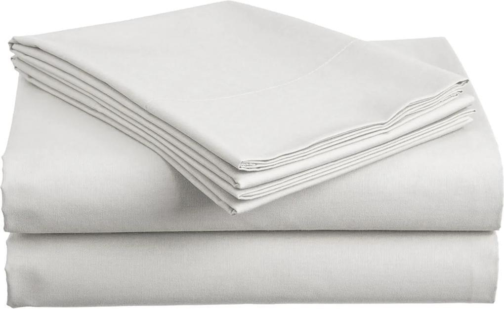 Cearșaf bumbac Standard alb 140x240 cm