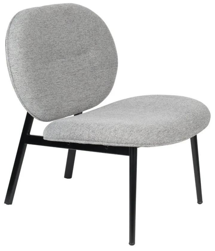 Scaun lounge gri Spike Grey