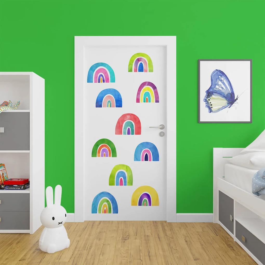 Set de stickere pentru usa - Curcubee 30x25 cm