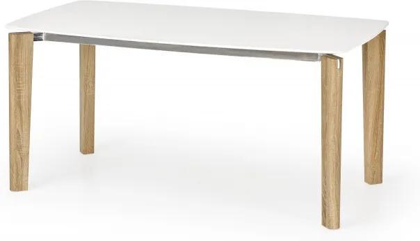Masa din metal si MDF Weber Alb / Stejar Sonoma, L160xl90xH76 cm