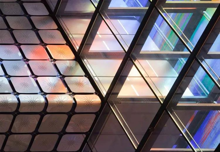 Lines & Colours Fototapet, (254 x 184 cm)