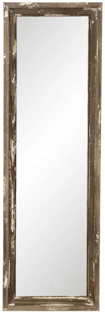 Oglinda de perete cu rama din lemn maro antichizat 22 cm x 3 cm x 70 h