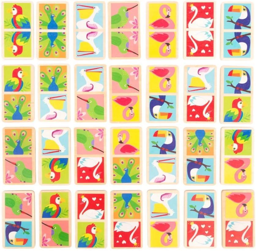 Domino din lemn pentru copii Legler Birds of the World