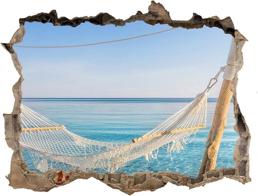 Autocolant un zid spart cu priveliște Hamac de mare
