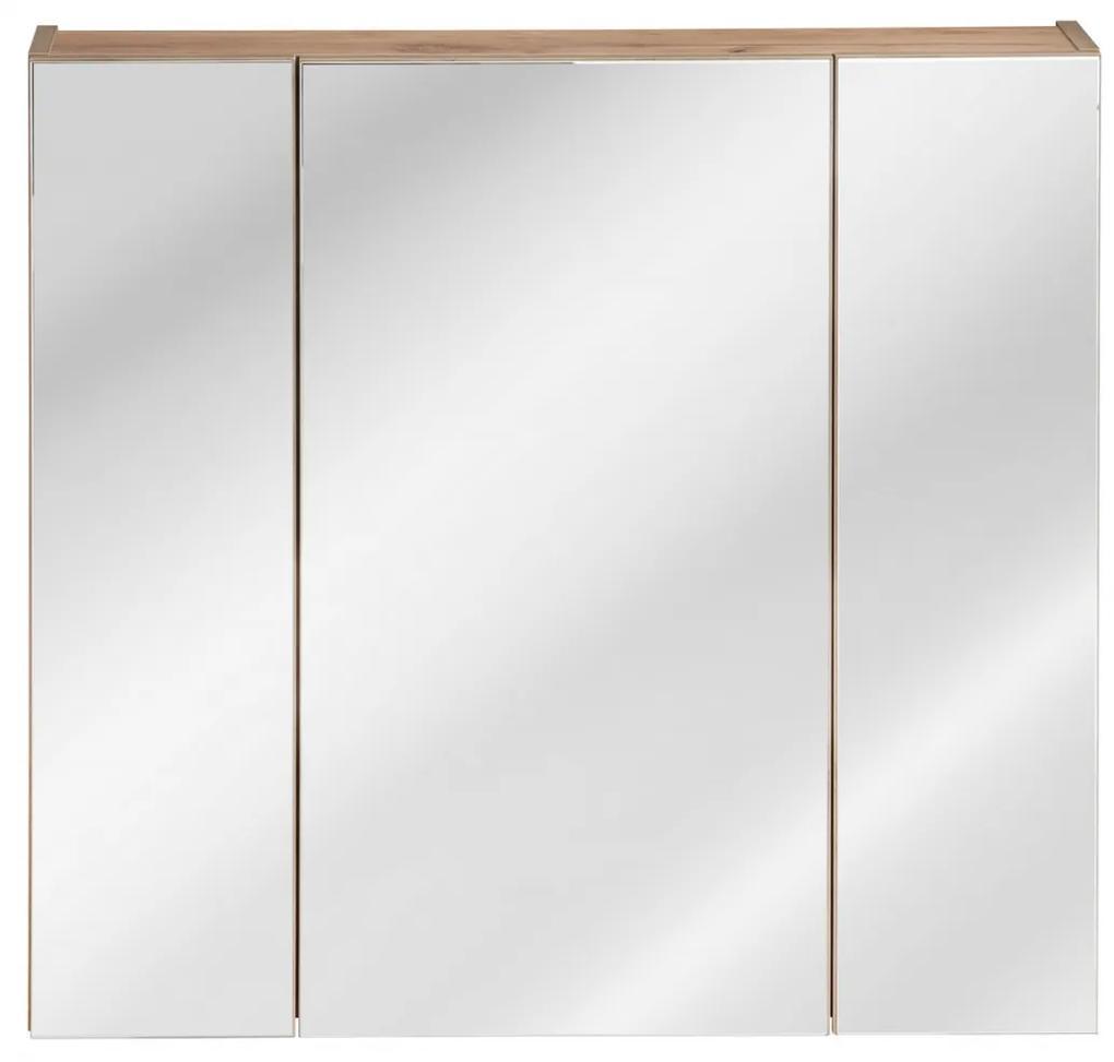 Corp suspendat cu oglinda Calatis  80 cm Stejar  Golden Craft, 16 cm, 80 cm, 75 cm, Corp suspendat cu oglinda