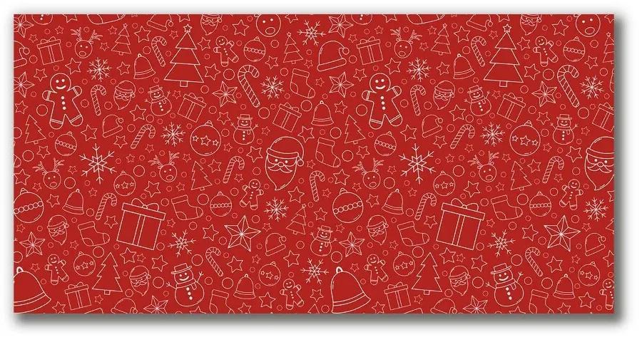 Tablou pe panza canvas Ornamente de Crăciun Decor de iarnă