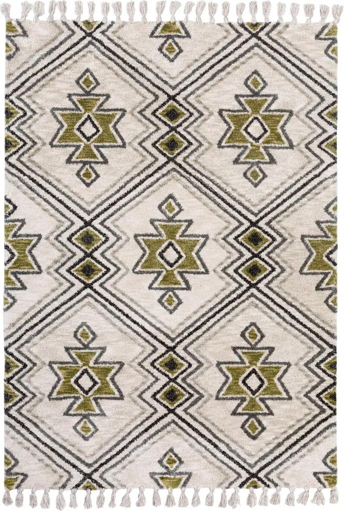 Covor Modern & Geometric Vittoria, Verde/Multicolor, 160x230 cm