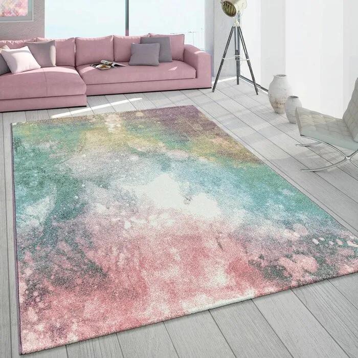 Covor Serpa, roz/albastru/galben, 80 x 150 cm