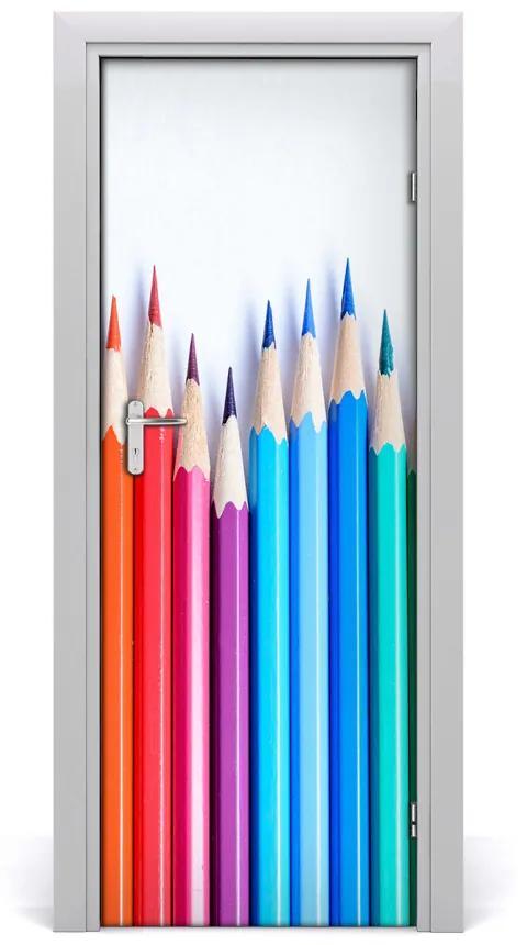 Autocolante pentru usi creioane colorate