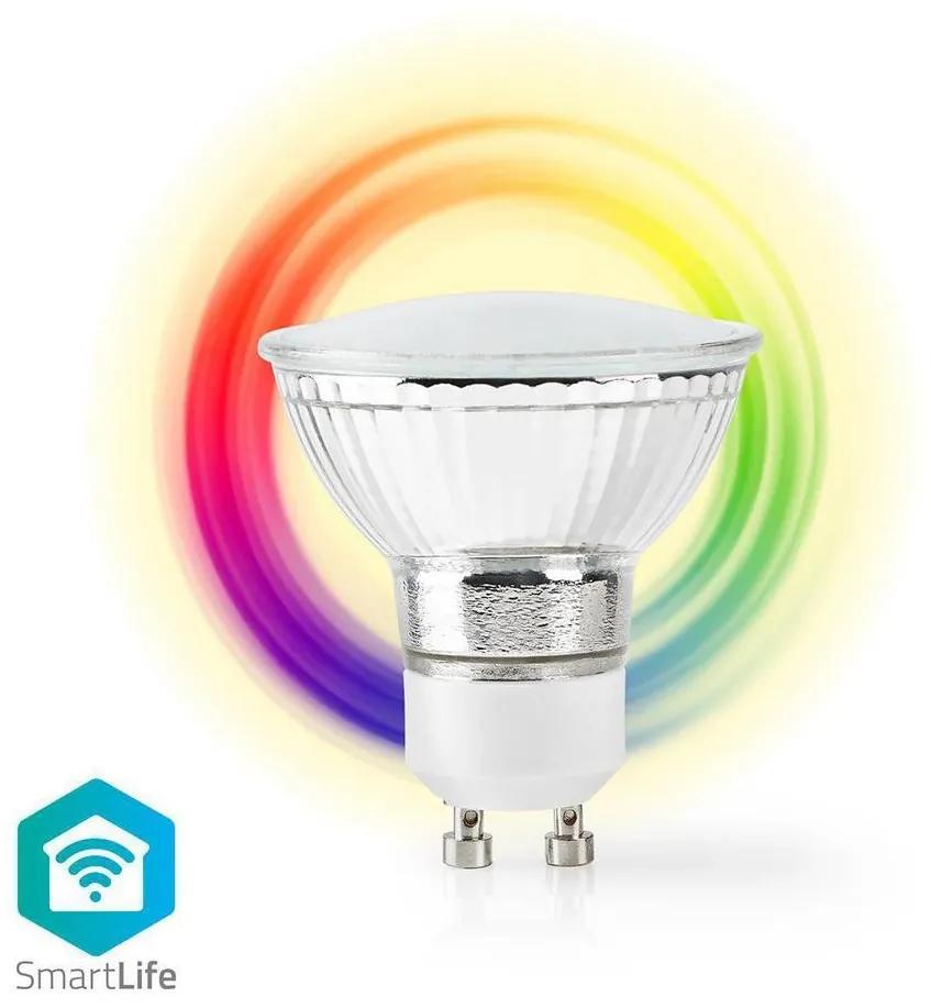 Nedis WIFILC10CRGU10 − LED RGB Dimmabil inteligent bec GU10/5W/230V