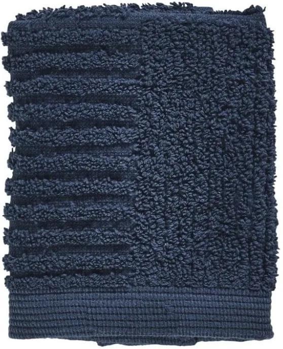 Prosop din bumbac 100% pentru față Zone Classic Dark Blue, 30 x 30 cm, albastru închis