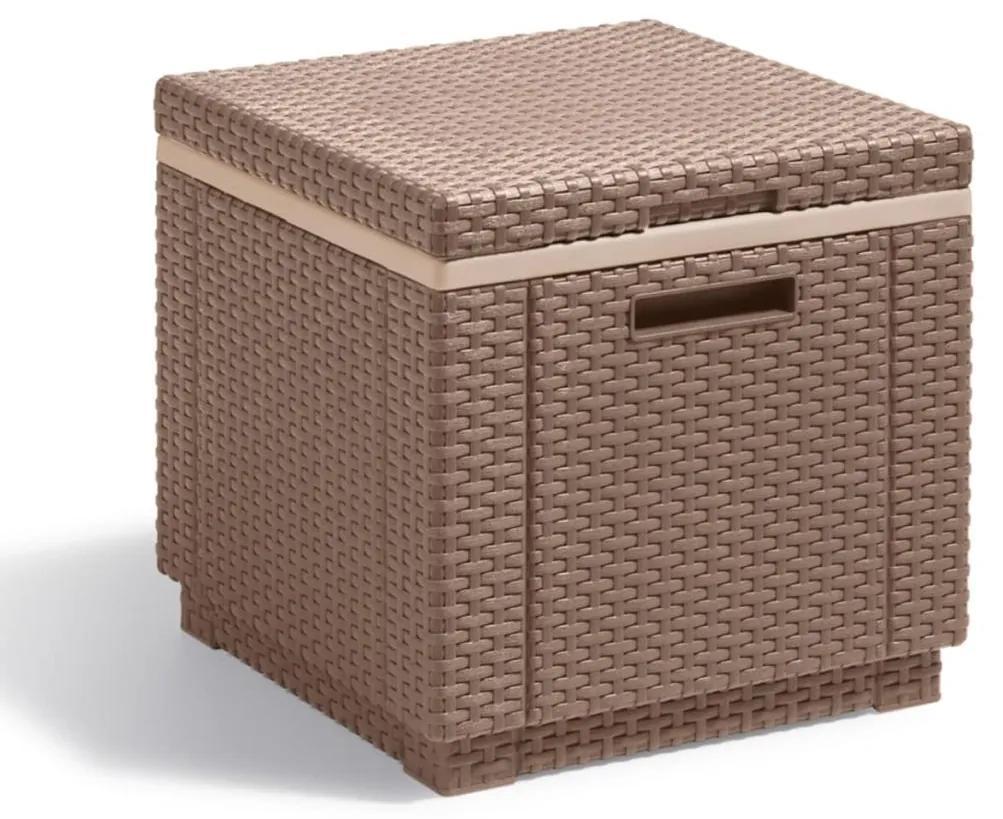 408953 Allibert Ladă frigorifică Ice Cube, cappuccino, 223761