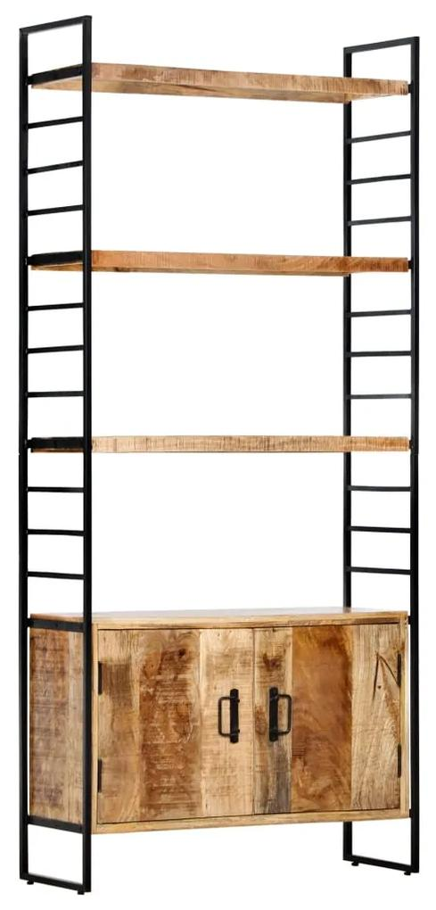 284422 vidaXL Bibliotecă cu 4 rafturi 80x30x180 cm lemn masiv mango nefinisat