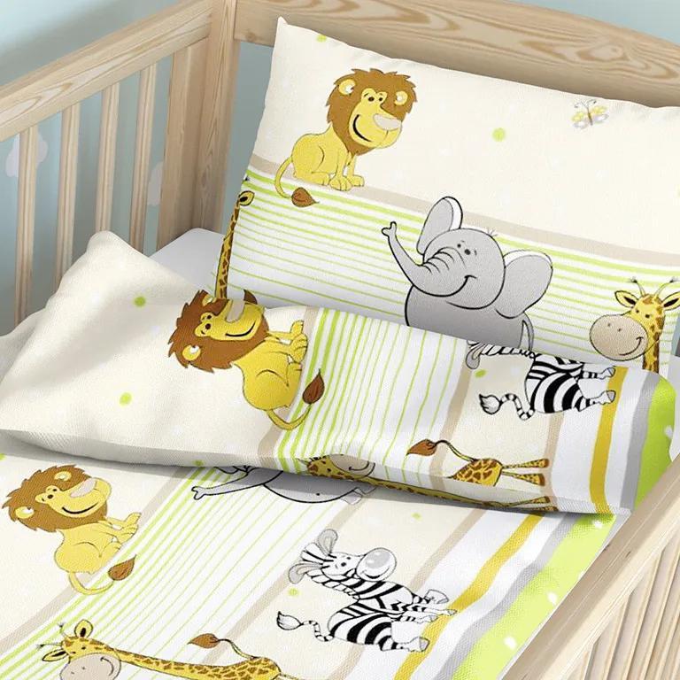 Goldea lenjerie pătuț din bumbac pentru copii - model 559 90 x 140 și 50 x 70 cm