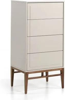 Dulapior elegant cu 4 sertare, design modern Platin